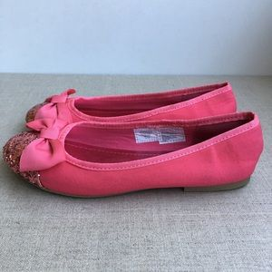 GAP Girl US 2 Fancy Ballet Flats with A Bow Shoes